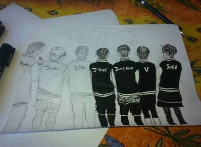 [BTS] un dessin que j'ai fait