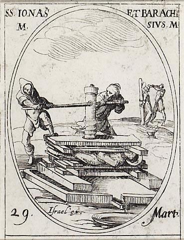 Saints Barachise et Jonas. Martyrs en Perse († 327)