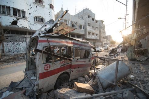 gaza bombardement prémonition