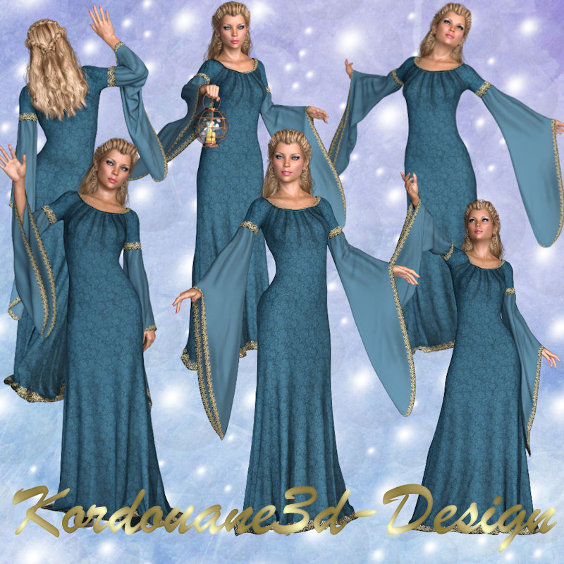 Ombeline : femme médiévale (render-image)