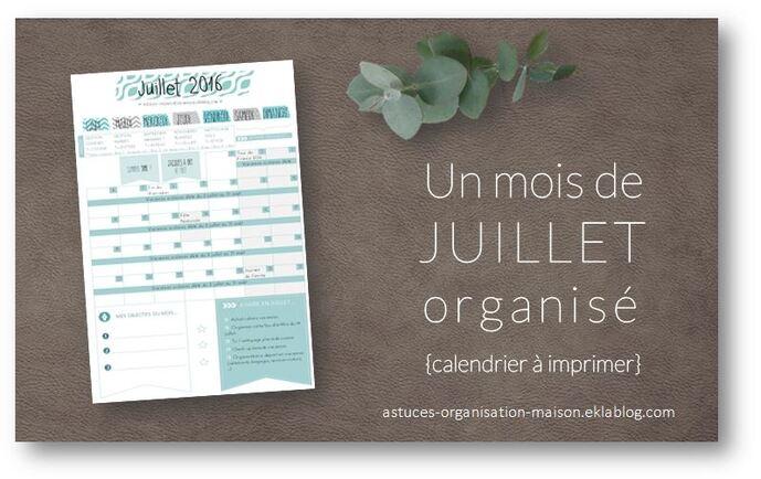 ✿ Un mois de juillet organisé {calendrier à imprimer}