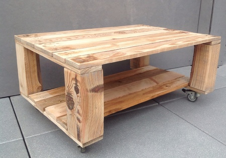 Table base en palette.