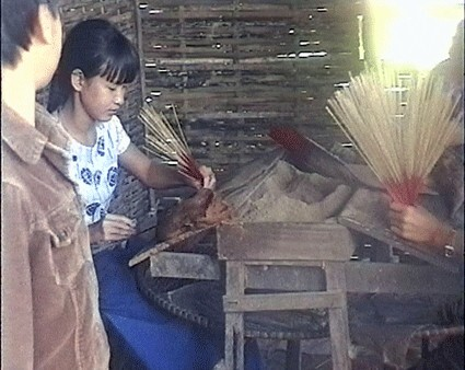 fabrication bâtonnets d'encens