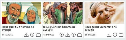 Jésus guérit un homme aveugle de naissance