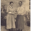 Marthe Heurtin (à droite) et une autre sourde-aveugle