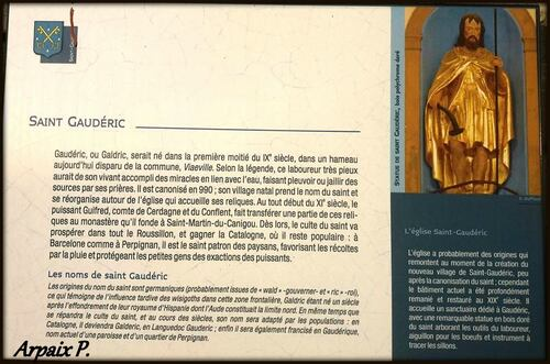N inversé dans l'église de Saint Gaudéric ...Aude