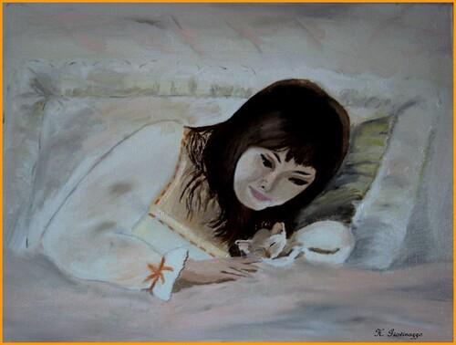 """A la demande d'une blogueuse """"Chinou"""" Portrait que j'ai fait il y a une quinzaines d'année"""