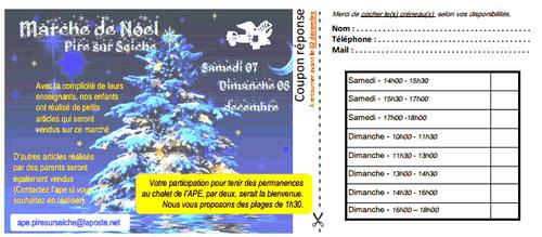 Marché de Noël 7 et 8 décembre 2013