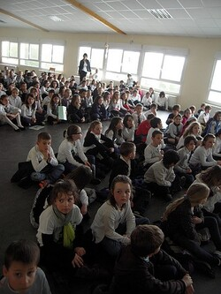 An Assembly in Notre-Dame de Liesse School
