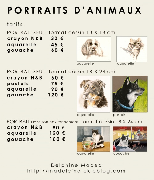 portraits d 39 animaux madeleine. Black Bedroom Furniture Sets. Home Design Ideas