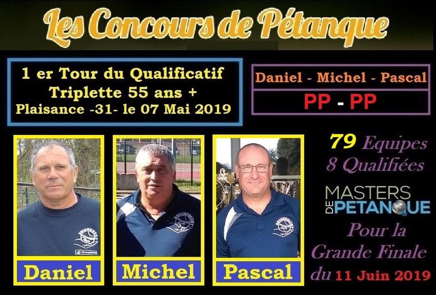 1er Tour Qualificatif du Régional Triplette à Plaisance 55 ans+