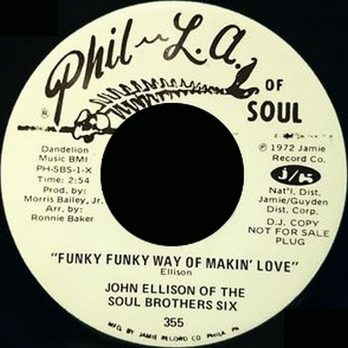 "The Soul Brothers Six : CD "" Funky Funky Way Of Makin' Love "" Jamie Records JAMIE 4013 [ US ]"