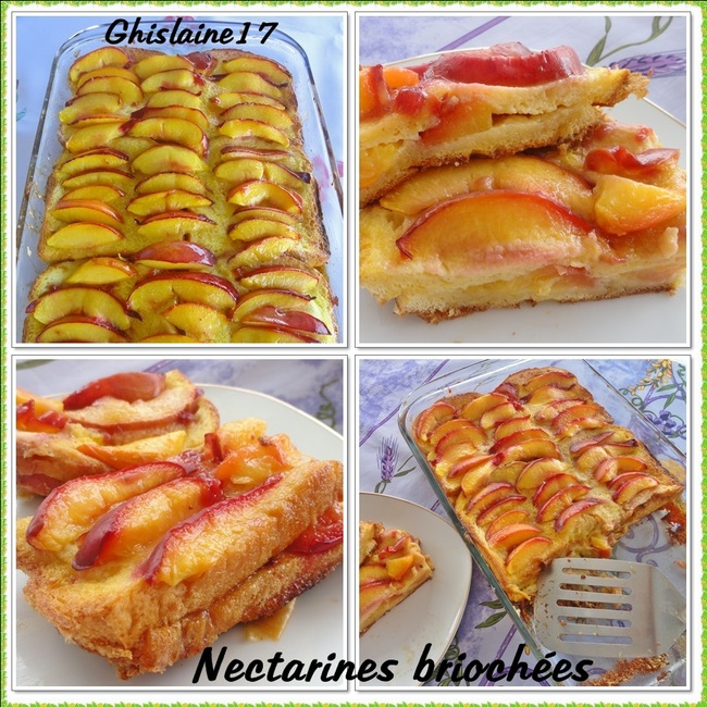 Nectarines briochées