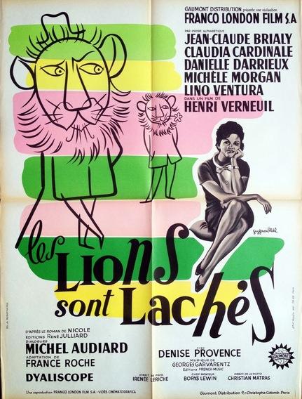 LES LIONS SONT LACHES - BOX OFFICE LINO VENTURA 1961