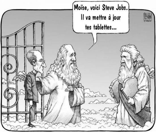tablettes de steve jobs