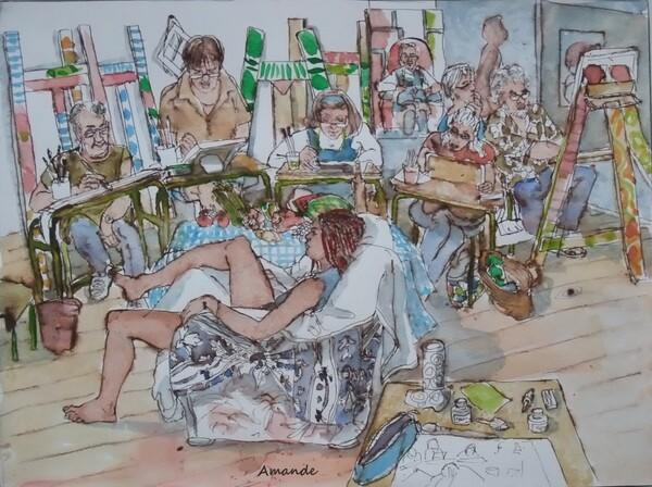 Mercredi - Scène d'atelier : Laura