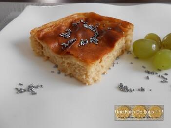 Gâteau de semoule au miel & fleur d'oranger