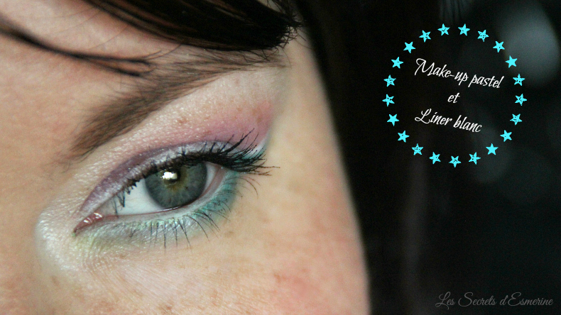 make-up pastel et liner blanc