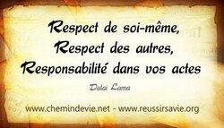 Le respect..
