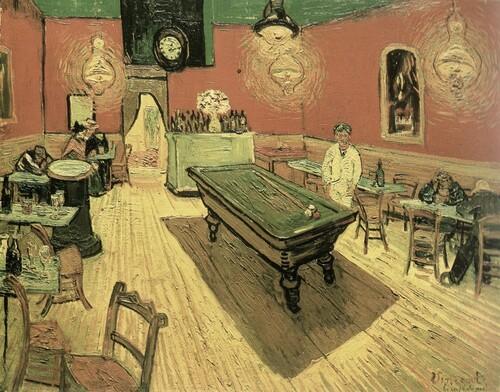 Café de nuit  Tableau scanné sur livre Van Gogh  collection Joel Georges