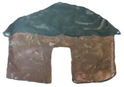 Peinture à l'argile - aspect minéral