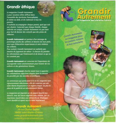 Blog de melimelodesptitsblanpain :Méli Mélo des p'tits Blanpain!, Magazine 'Grandir Autrement'