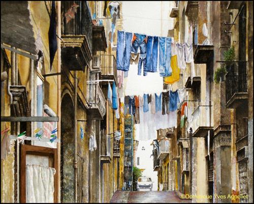 """Une aquarelle de A à Z: """"Napoli"""""""