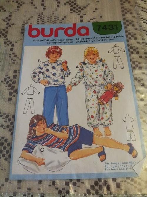 Pyjama enfant burda