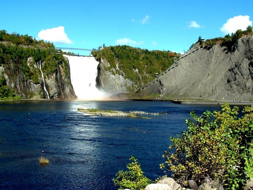 Canada: Québec et son lieu magique «la chute de Montmorency»