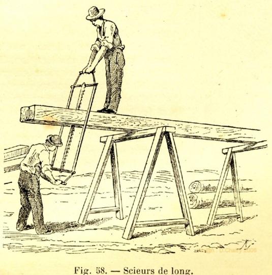plus de cent ans avant, déjà le bois