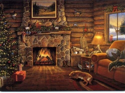 Un bon feu de cheminée