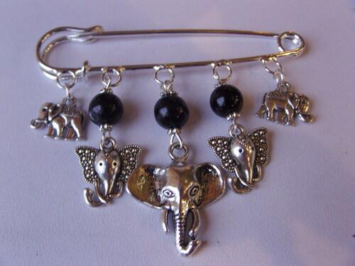 Broche éléphants