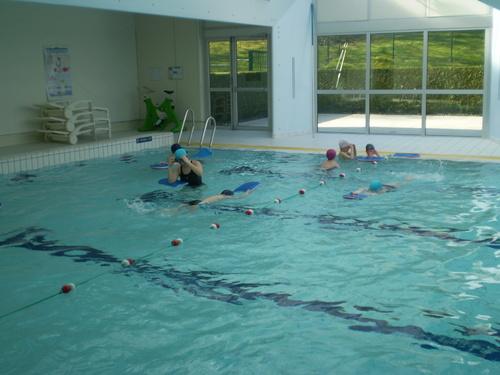Séances de piscine en images