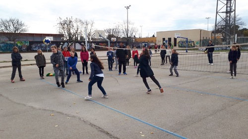 Le volley avec Herie, Go fun for Fun !