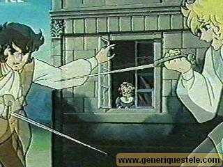 oscar avec andré qui se battent a l'épée