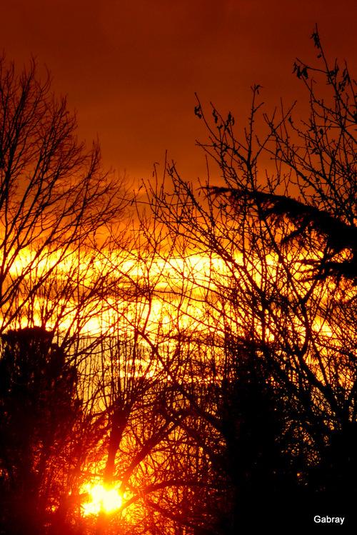 Vieille-Toulouse: coucher du soleil ...
