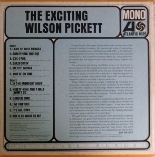 "Wilson Pickett : Album "" The Exciting Wilson Pickett "" Atlantic Records SD 8129 [ US ]"