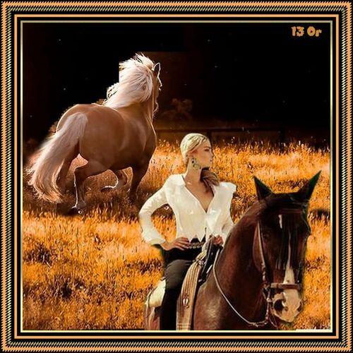 """Défi """"La belle et son cheval"""""""