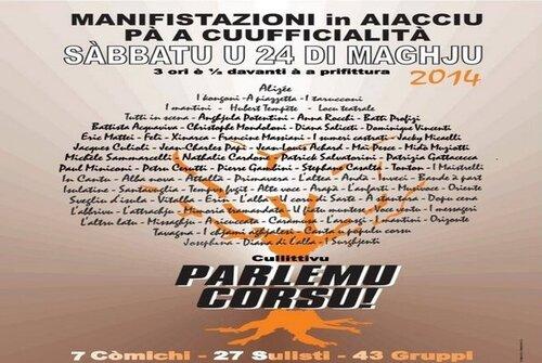 Appel à la mobilisation de Parlemu corsu le 24 mai à Ajaccio