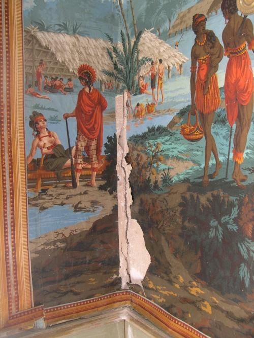 Restauration de papiers peints XIXe
