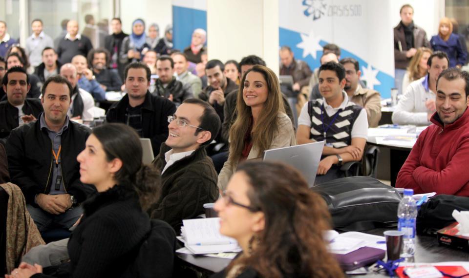 Rania et les jeunes entrepreneurs