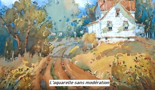 Dessin et peinture - vidéo 2940 : Comment réussir un paysage à l'aquarelle ?