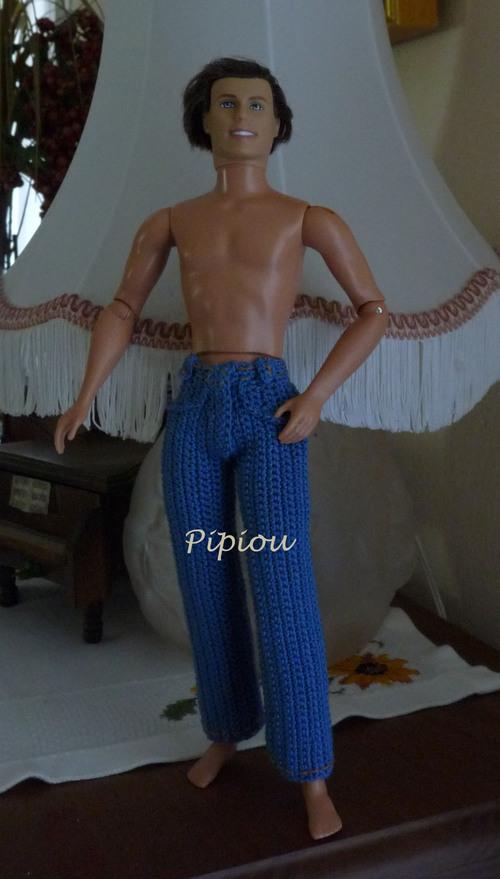 Ken en jeans au crochet