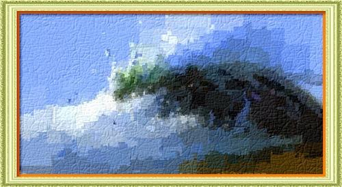 Dessin et peinture - vidéo 2478 : tuto de peinture à l'huile ou à l'acrylique - houle s'écrasant sur un rocher 3.