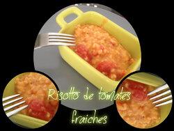 risotto de tomates fraîches