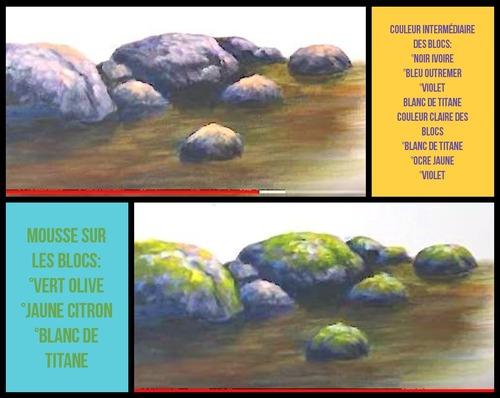 Dessin et peinture - vidéo 3394 : Comment peindre le lit d'un torrent ? - acrylique, huile.