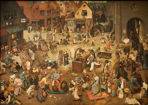 Le combat de Carême et Carnaval