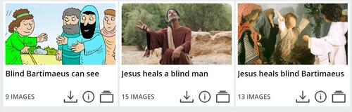 Guérison de l'aveugle Bartimée