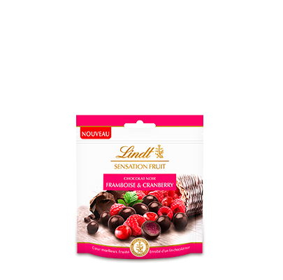 Lindt Sensation Fruit Framboise & Cranberry - 65g