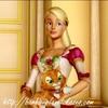 La princesse Genevieve et son chat tigre Twyla